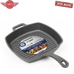 Westinghouse Pre-seasoned Cast Iron 10 1/2 Inch Square Grill