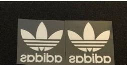 White Adidas Iron On Vinyl Logos 2 Inches Wide Iron On Logo