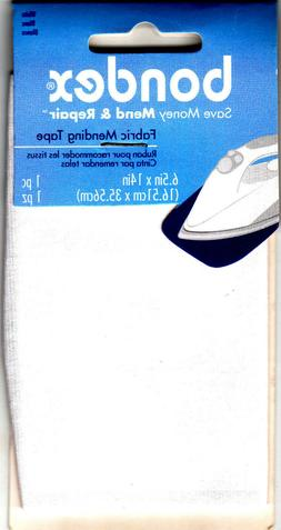 "BONDEX WHITE FABRIC IRON ON MENDING TAPE-6 1/2"" x 14""-Clothi"