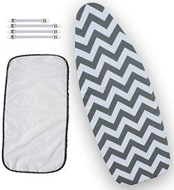 Balffor Wider Ironing Board Cover 6 Items: 1 Extra Thick Fel