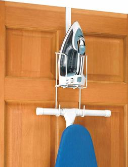Whitmor Wire Over The Door Ironing Caddy Iron and Ironing Bo