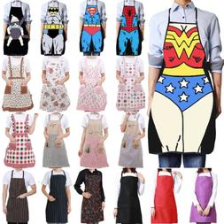 Women Men Cooking Chef Kitchen Home Restaurant Bib Aprons Dr