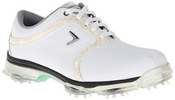 Callaway Footwear Women's XTT Tour Golf Shoe,White/Khaki,9 W